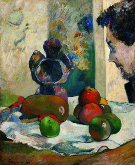 Paul Gauguin: Still Life with Lavals Profile/Nature morte af Lavals profil, 1886 - Olie på kanvas 46 x 38 cm - Indianapolis Museum of Art, Indianapolis, IN, USA
