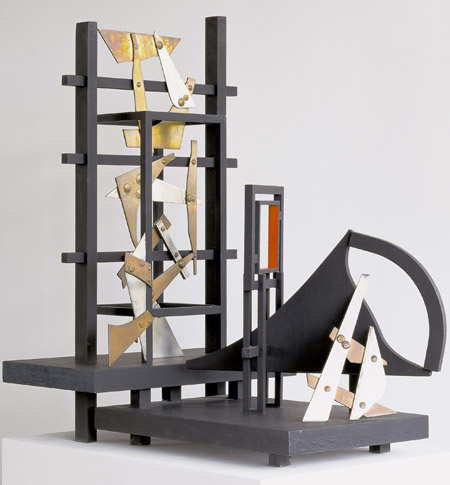 Robert Jacobsen, Collage, 1984, Jern og messing. Højde: 107 cm., Sammlung Würth