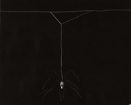 Arachnes Web (Untitled 15), 2006. Monotypi, 50x66 cm, Courtesy Martin Asbæk Projects, Foto: Anders Sune Berg