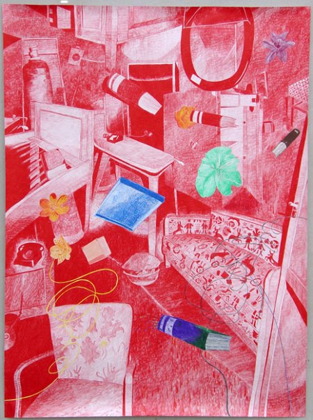 German Interior, pencil on paper, 200 X 148 cm, 2004