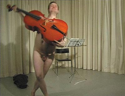 The Cellist, 1998 - Videoprojection & video installation - Duration 9 min 30 sec.