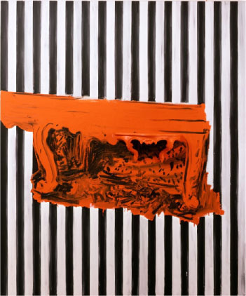 Untitled, 1985, Acrylic on canvas, 180 x 150 cm, Tilhører Statens Museum for Kunst