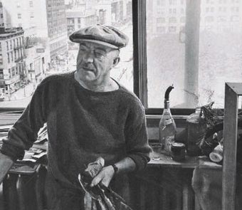 Fernand Léger i sit atelier i New York - Foto: Archives Georges Bauquier